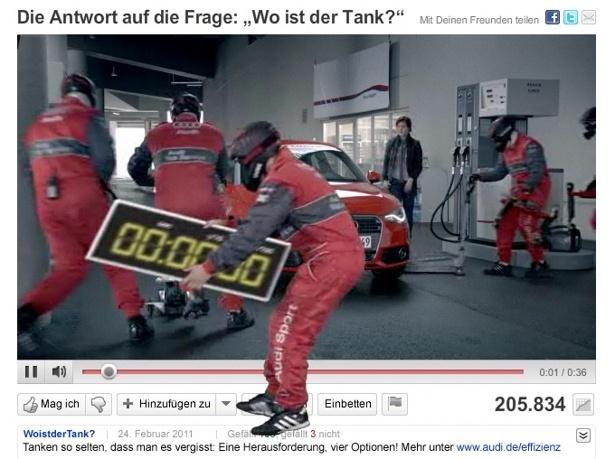 Anche Audi si cimenta negli effetti speciali.