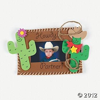 Western Photo Frame Magnet Craft Kit