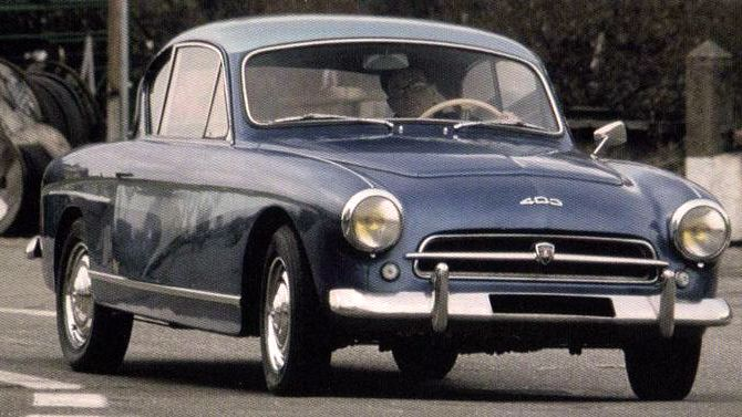 Peugeot 403 Coupe, 1956 by Darl'mart. Emile Darl'mat was a Peugeot dealer who branched out into coachbuilding in the 1920s, five of these coupés where made but they were the last of the line for Darl'mat who continued in business selling Peugeots rather than making them