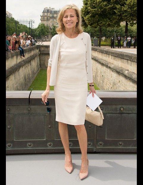 Claire Chazal au défilé Dior Couture