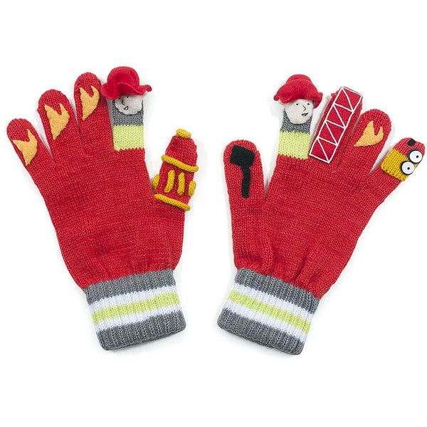 Kidorable Red Firefighter Gloves ($9.99) ❤ liked on Polyvore featuring accessories, gloves, kidorable and red gloves