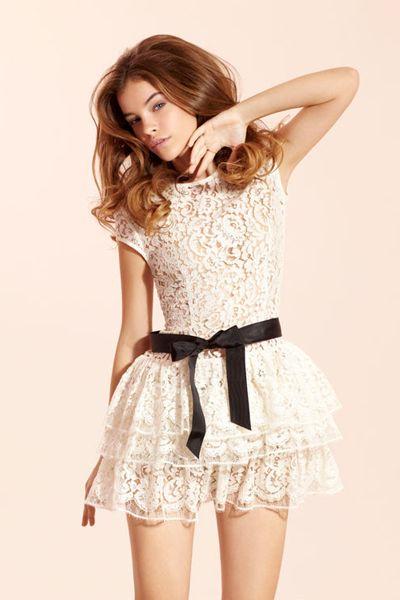lace dress.: Fashion, Style, Clothes, Barbara Palvis, White Lace, Lacedress, Closet, Lace Dresses