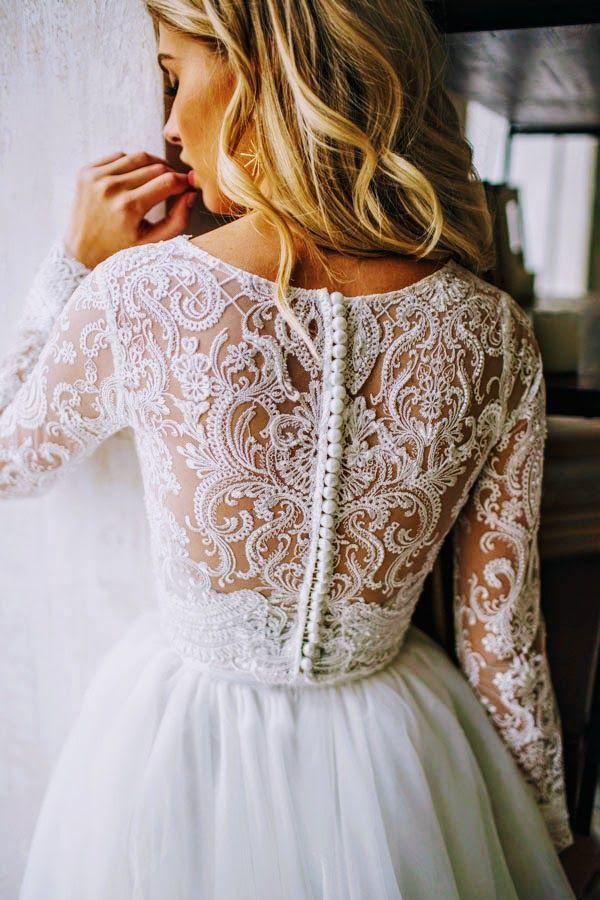 Tulle long sleeve dress LORELEI