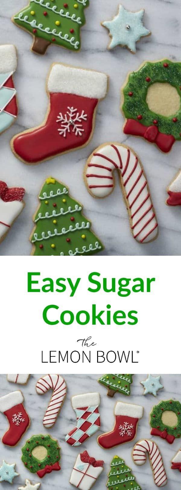 A Christmas cookie classic, these adorable sugar cookie cutouts are perfect for holiday entertaining, homemade edible gifts or leaving our for Santa.  ♛BOUTIQUE CHIC♛