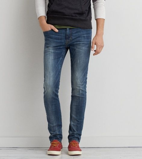Medium Crackle Slim Extreme Flex Jean