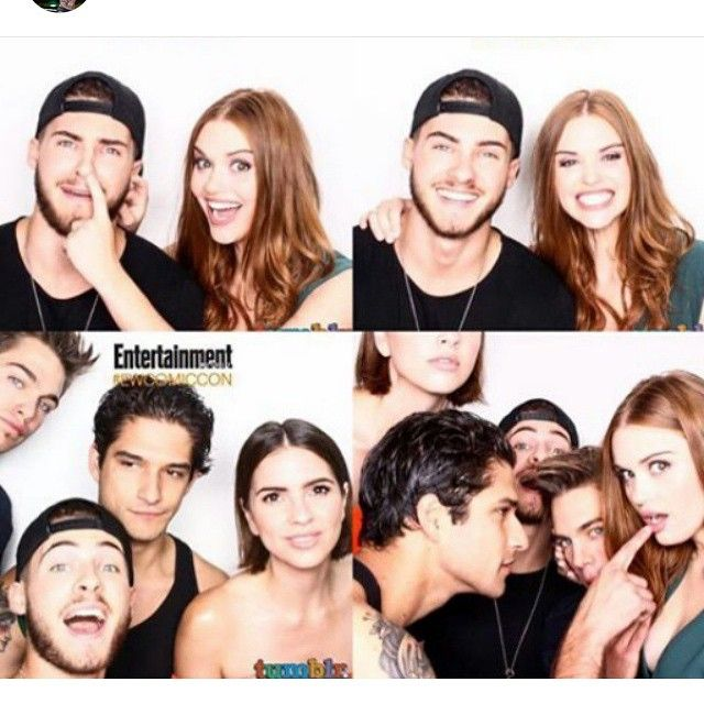 Had so much fun with these peeps today #comiccon2015 @teenwolf @i_love_harveys #dylansprayberry @codychristian #shelleyhennig #dylanobrien @arden_cho