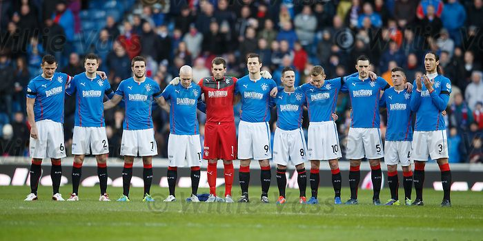 Rangers line up in tribute to former player Ian Redford