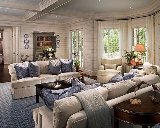 Living Room New England Style Design, Pictures, Remodel, Decor And Ideas
