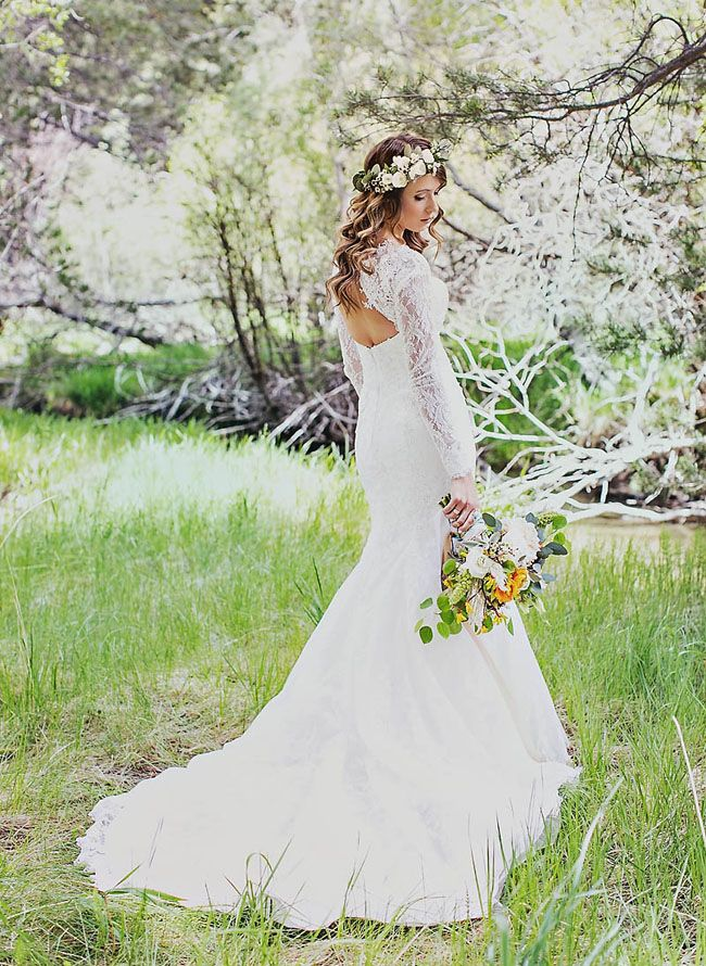 Rustic Bohemian Mountain Wedding Chelsea + Chris Sleeve