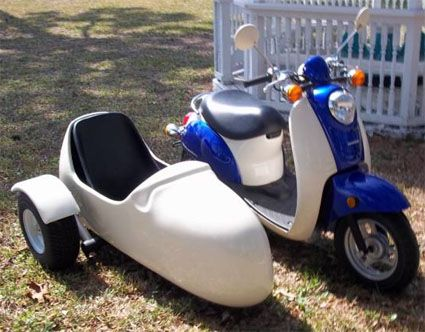 Roketa Side Car Scooter Moped Sidecar Kit Just Zipping