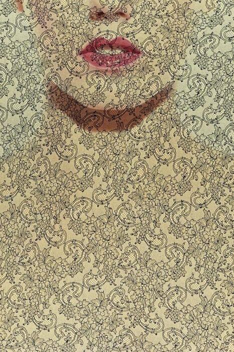 hoodoothatvoodoo: Jean Clemmer: Face, Dulces Visuales, Art Paintings, Arty Pants, Art Design Illustration, Lips Art Photo, Art S Smart, Art Amaze