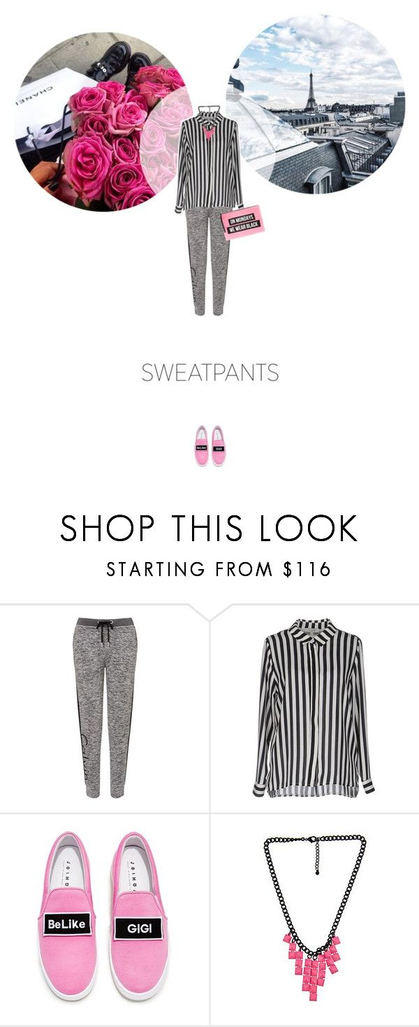 // 1303. Comfort is Key: Sweatpants. by lilymcenvy on Polyvore featuring Calvin Klein, Joshua's, Blu Bijoux and sweatpants