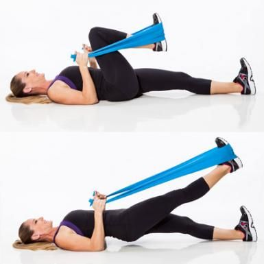 Resistance Band Workout: Kick Butt Extension - Resistance Band Workout: 7 Butt Exercises That Really Work - Shape Magazine
