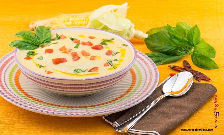 My Cooking Idea. Ricette di cucina vegetariana, vegana, dolci e dessert.: Zuppa di mais e soia