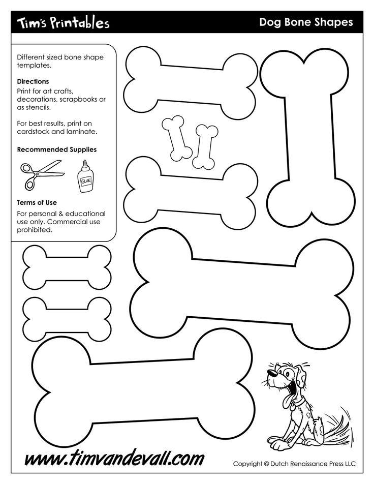 bone shape coloring pages - photo#8