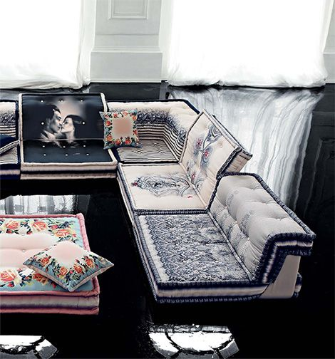 Jean Paul Gaultier couture furniture collection from Roche Bobois