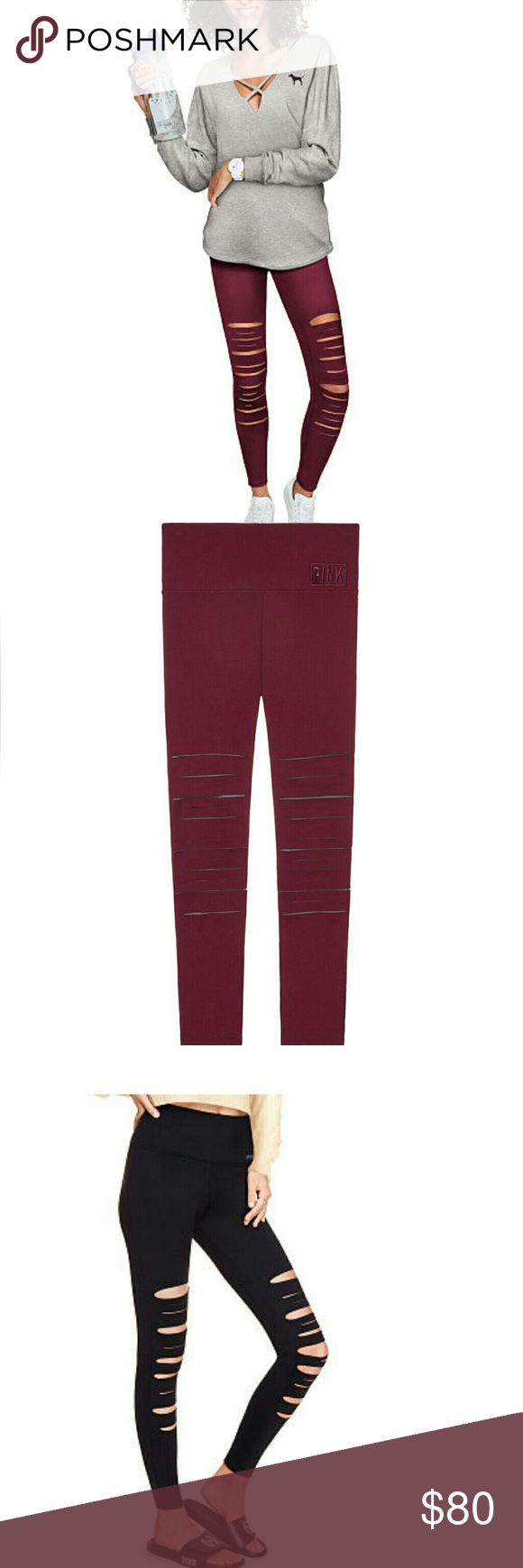 DEEP RUBY ULTIMATE HIGH WAIST FRONT SLASH LEGGING Brand New in Plastic Size Large  Get your street style on point with this cool and trendy Ultimate Legging. Features a high waist, plus quick-dry 4-way stretch that wicks away sweat and is breathable during workouts. Front slash details give all the edge you'll need.  High waist Premium quick-dry 4-way stretch fabric Breathable & sweat-wicking Front slash details Imported nylon/polyester/spandex DK-377-066 PINK Pants Leggings