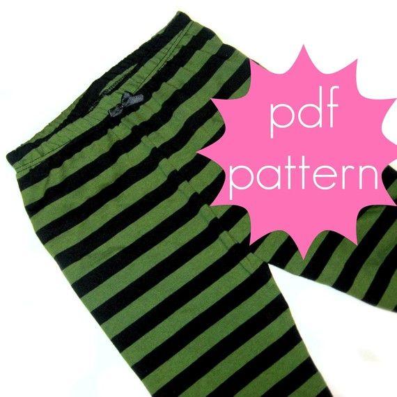 Basic Knitting Tutorial Pdf : Basic knit leggings pdf sewing pattern full or capri
