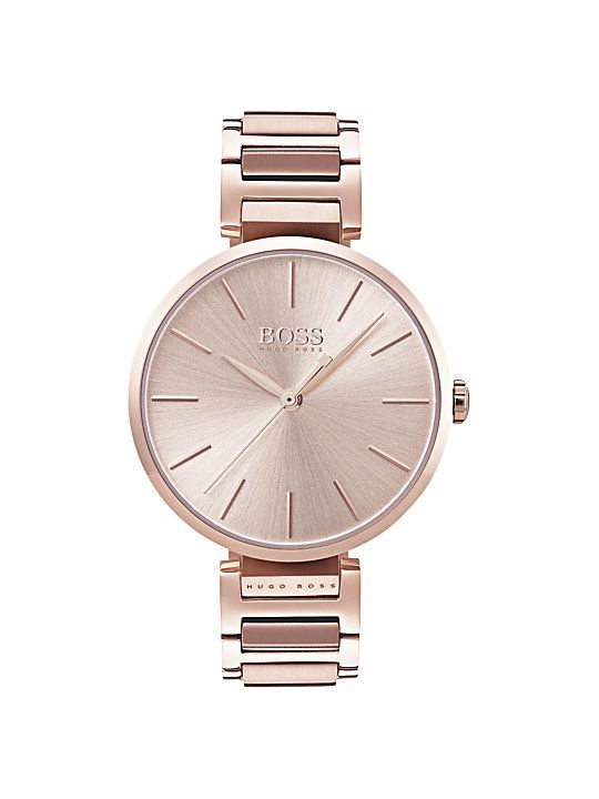 201e6925984d HUGO BOSS 1502418 Women's Allusion Bracelet Strap Watch, Rose Gold ...