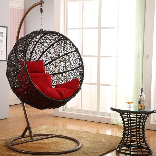 Elegante semplicità cesto altalena coperta all'aperto terrazza lounge sedia appesa a dondolo adulto amaca speciali