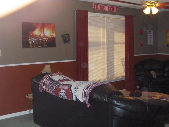 Family room-fireman theme