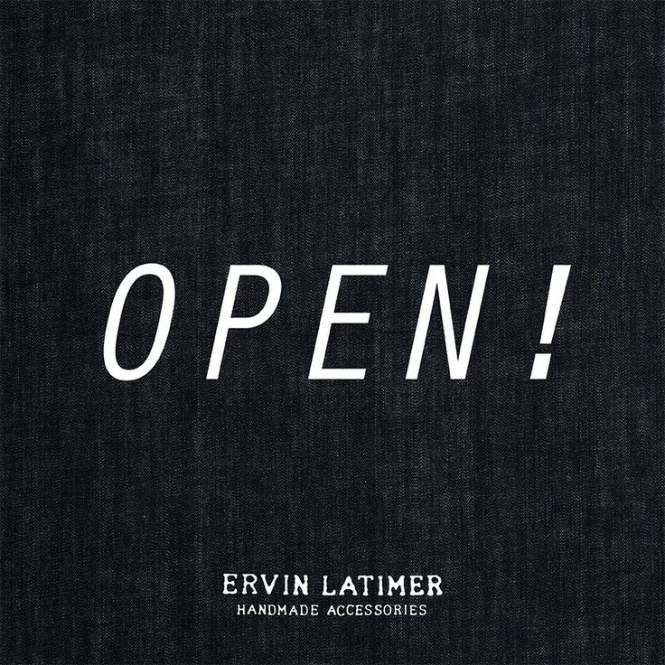 Yep! We're finally open at www.ervinlatimer.com