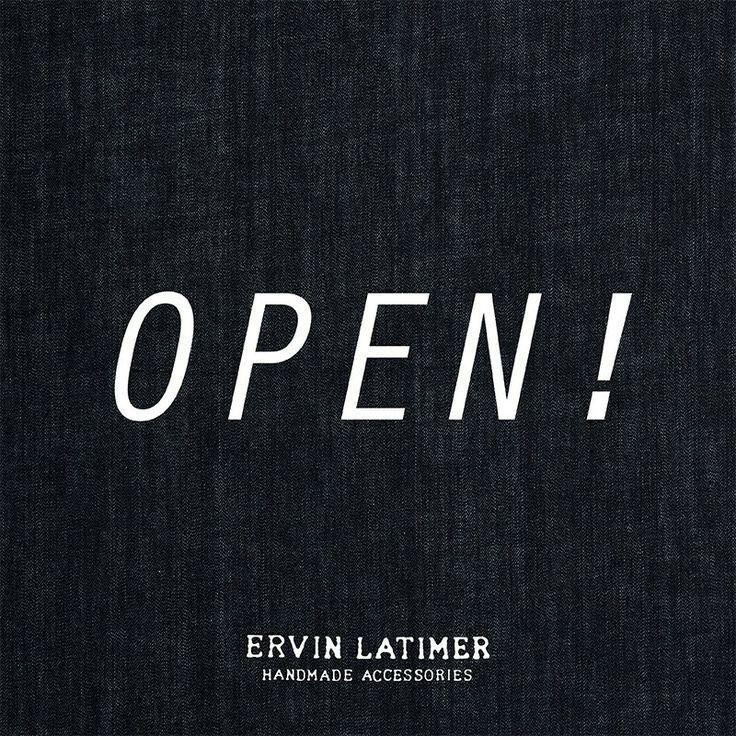 Yep! We're finally open at www.ervinlatimer.com