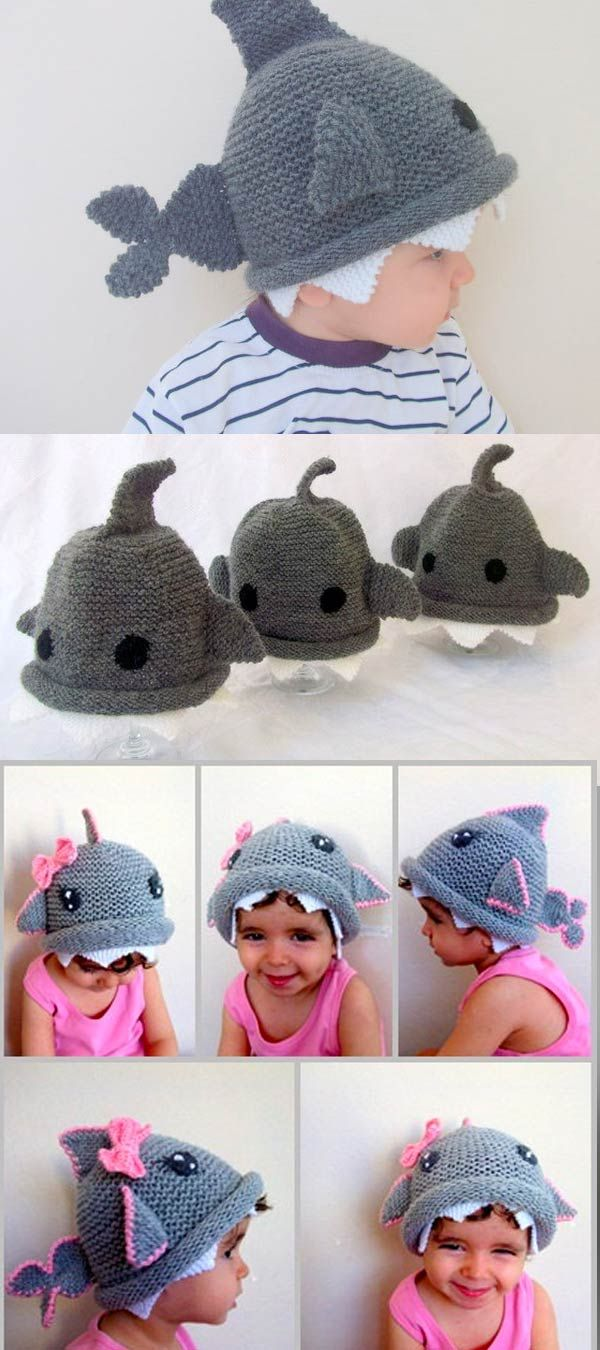 Shark hat -Knitting Baby  Hat