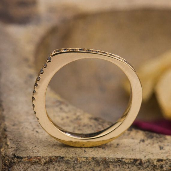 Irregular Shape 14K Yellow Gold Ring with by ZEHAVAJEWELRY