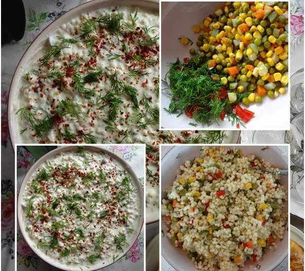 In diesem Rezept zeige ich ihnen, wie sie Kuskus Salat mit Joghurt zubereiten können. Es schmeckt zur Teezeit sehr köstlich. Außerdem ist es ganz einfach und schnell zuzubereiten. Hier die Zutaten und die Zubereitung für den Kuskus Salat mit Joghurt. Zutaten fürKuskus Salat mit Joghurt - Yoğurtlu Kuskus Salatası 1 ½ Gläser Kuskus 1 rote…