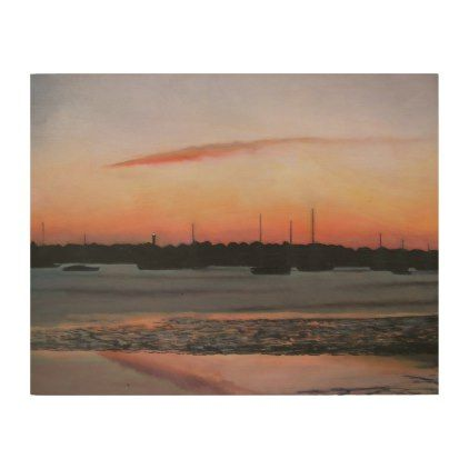 ST. AUGUSTINE BAYFRONT MORNING Wood Wall Art - wood gifts ideas diy cyo natural