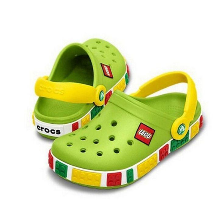 2017 Estilo de la Marca de Los Niños Del Niño Del Verano Sandalias de Dibujos Animados en 3D Lego Niños Niñas Zapatillas de Playa Niños Zapatos Sandalia