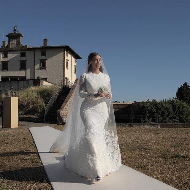 Kim Kardashian West And Kanye West S Wedding Album Vogue Australia Kim Kardashian Wedding Dress Kanye West Wedding Celebrity Wedding Dresses
