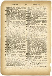 Free Vintage Image ~ an old dictionary page that includes the definition for the word: father