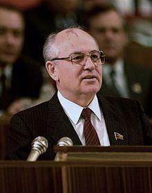 Mikhail Sergeyevich Gorbachev (Russian: Михаи́л Серге́евич Горбачёв, tr. Mikhail Sergeyevich Gorbachyov; IPA: [mʲɪxɐˈil sʲɪrˈɡʲejəvʲɪtɕ ɡərbɐˈtɕof] ( listen); born 2 March 1931) is a former Soviet statesman, having served as General Secretary of the Communist Party of the Soviet Union from 1985 until 1991, and as the last head of state of the Soviet Union, having served from 1988 until its dissolution in 1991.
