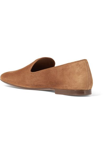 Vince - Bray Suede Loafers - Tan - US6.5