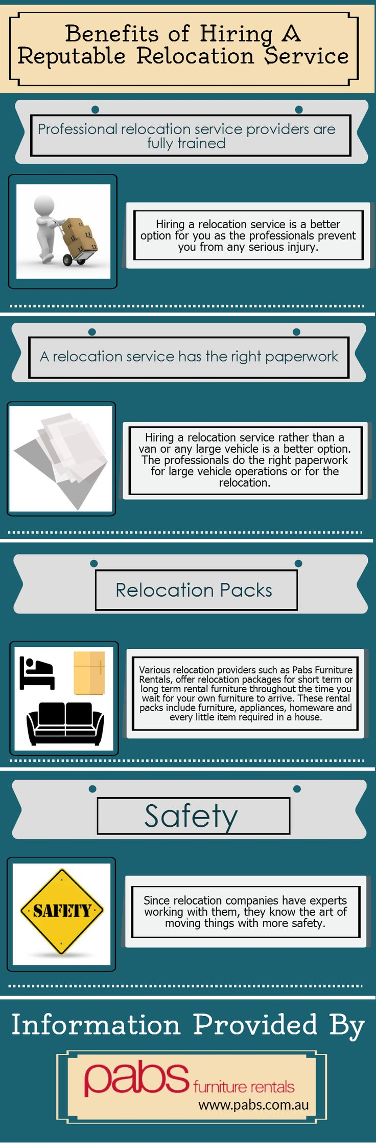 There are plenty of ways for relocating. It can be doing it on your own or hiring some professionals to do it for you. However, a reputable relocation service can do this task efficiently. Check out this infographic to know the advantages of hiring a reputable relocation service.