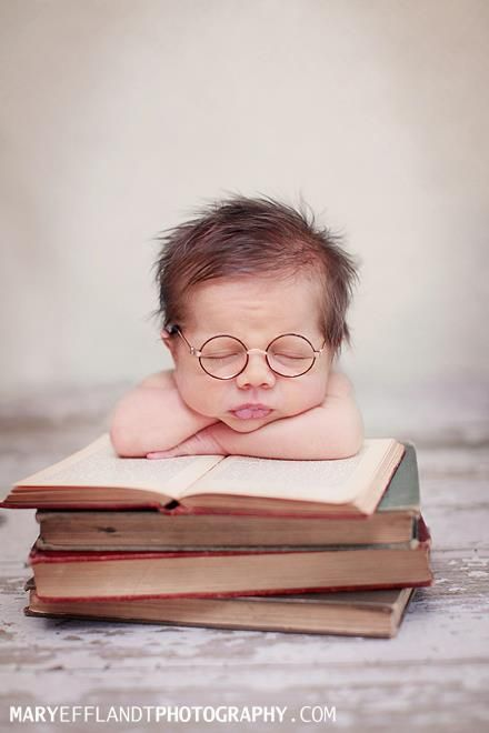So cute - what a little scholar in training!