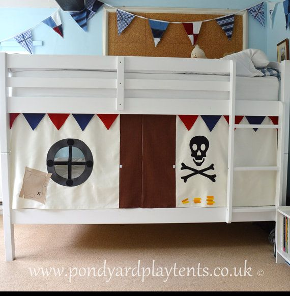 Pirate Ship bunk bed tent. Create a secret by PondYardPlayTents