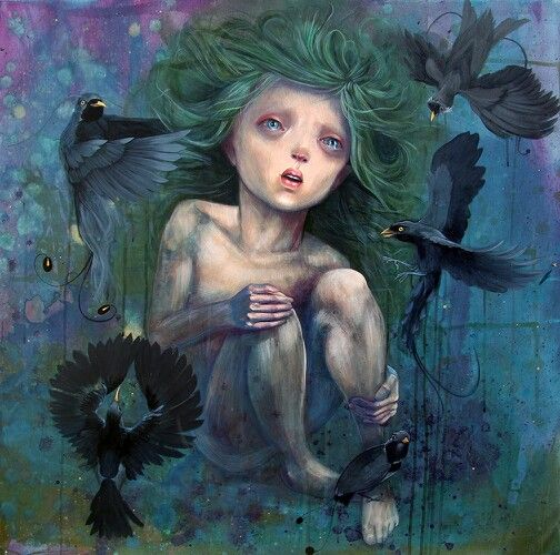 #Tristeza #sadness #dark #oscuro #sorrow #gloom #dreariness #melancholia #misery #dolor #pena #pesar #depresion #pesar #melancolia #pajaros #birds #illustration #ilustracion #art #arte #dibujo #draw #blue #mixedmedia #tears #lagrimas #crow #paradise #miguelbethencourt
