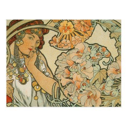 french art nuveau post card french art