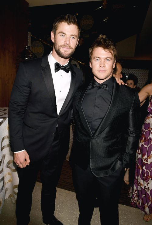 Chris and Luke Hemsworth