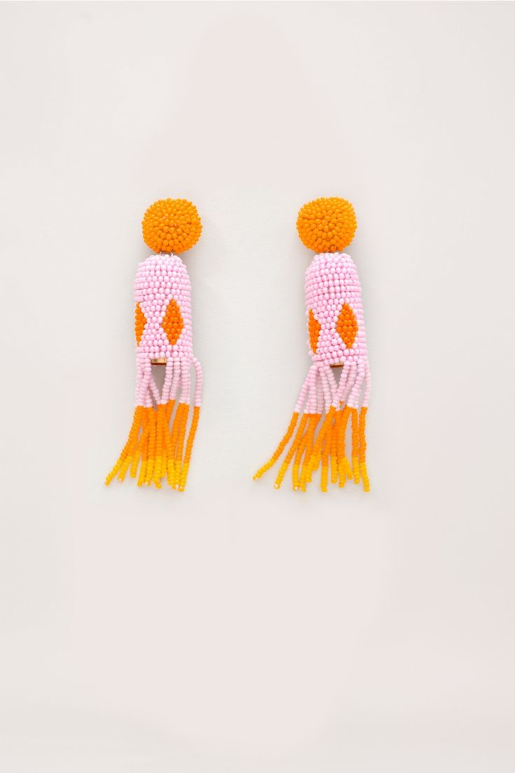 // Jelly Beaded Earrings