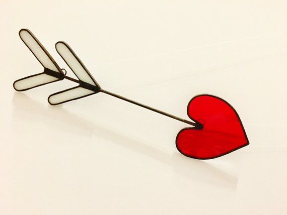 Cupid/'s Arrow Heart Suncatcher