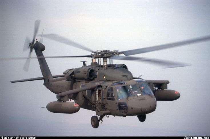 Front view of a UH-60L Black Hawk helicopter Stock Photo
