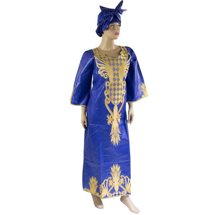 Gaun African Bazin Riche Afrika lilin Kain Katun gaya Top Tradisional campuran Pakaian Desain Fashion