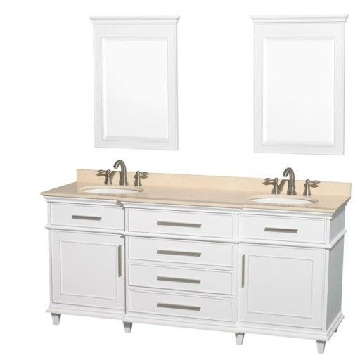 Wyndham Collection Berkeley 72 Double Bathroom Vanity White Wc