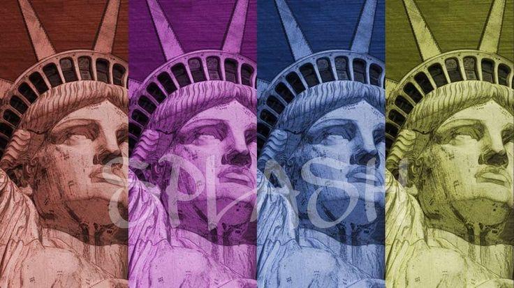Cuadro Estatua Libertad pop art SP343