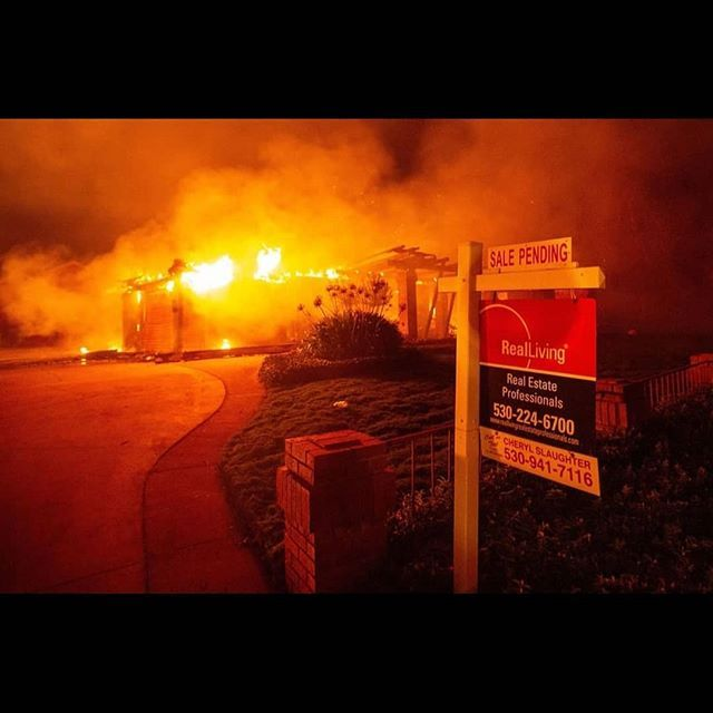 Nbcsandiego A Real Estate Sign Is Seen In Front Of A Burning
