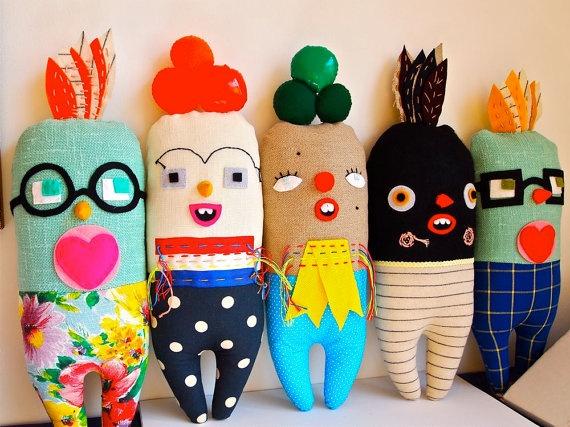Handmade dolls by Jess Quinn